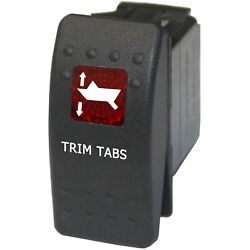 Trim Tabs 750rm Rocker Switch Red Momentary 12v Out Board Boating Marine