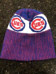 Vintage Retro Chicago Cubs Wrigley Field Winter Knit Hat Cap Beanie Adult Size