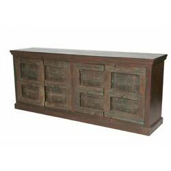86 L Daniels Sideboard Rustic Recycled Solid Wood Four Door Traditional