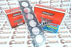 Manley Pistons And Rods And Arp Head Stud Kit W/ Toyota Gasket For Supra 2jzgte 3.0l