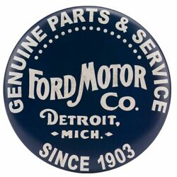 Ford Motors Parts And Service Framed Mirror Sign