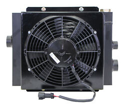 Mobile Hydraulic Oil Cooler Fan And Shroud Model Dc-12 12 Volt W/ Oc-62 With
