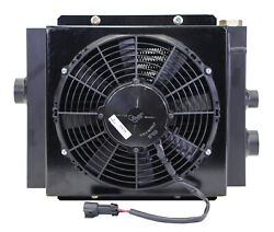 Mobile Hydraulic Oil Cooler Fan And Shroud Model Dc-12 24 Volt W/oc-62 With Or