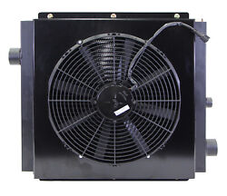 Mobile Hydraulic Oil Cooler Fan And Shroud Model Dc-35 12 Volt W/oc-64with Or W
