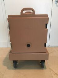 Cambro 300mpc131 Food Carrier Rolling Front Load Camcarrier W/ Dolly And Pans