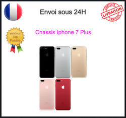 Chassis Iphone 7plus 7+ Coque Arriandegravere Boitier Logo Ce Rouge Noir Silver Gold Or