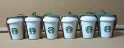Lot Of 18 3 Cups In Every Cup S M L New Starbucks Christmas Cup Ornaments Pg1641