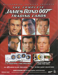 The Complete James Bond 007 - MASTER SET: Base Chase Autos Relics Etc - 2007