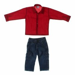 Shannon Ford New York Boys Jeans & Shirt Set size 18 mo  bluenavy red