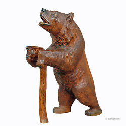 A Large Carved Standing Bear Brienz Ca. 1930