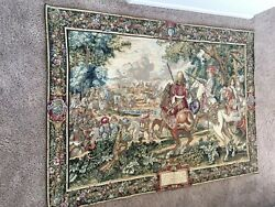 Flemish Goblin Tapestry Made In Belgium Bought in Florence some 15 years ago