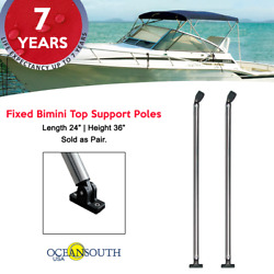 Oceansouth Fixed Bimini Top Support Poles 24 Length Fits 36 Height Frame