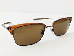 Genuine DKNY Donna Karen NY Retro Brown Amber Acrylic Metal Sunglasses Excellent