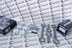 Cp-carrillo 86mm 8.51 Cr Pistons And Pro-h Rods Wmc And Acl Bearings For Bmw S54b32