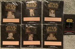 Star Wars Weekends 2000 - Complete Set Of 6 Le Pin Collection And Le Logo Pin