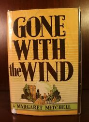 Gone With The Wind 1st Edition Dj 1st Printing May 1936 Margaret Mitchell