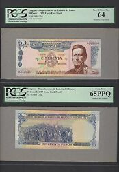 Uruguay 50 Pesos L1939 Pick Unlisted Face And Back Essay Proof Uncirculated