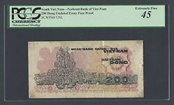 South Vietnam 200 Dong Undated Unissued Essay Face Proof Extremely Fine