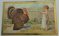 Antique Thanksgiving Postcard Lot Of 6 Vintage Emphera Post Cards Early 1900s