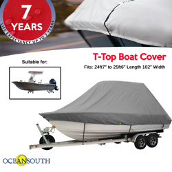 Oceansouth T-top Boat Cover 24ft7 To 25ft6 Length 102 Width