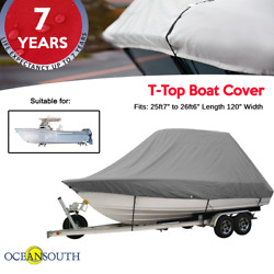 Oceansouth T-top Boat Cover 25ft7 To 26ft6 Length 120 Width