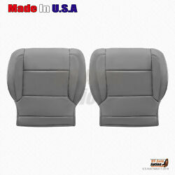 2014 - 2018 Gmc Sierra Driver And Passenger Bottom Leather Seat Cover Ash Gray