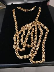 Yazdi 65g 22k SOLID Gold heavy long hand made thick chain 1979 vintage