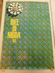 1960s ITALIAN Poster Fashion Ideas Button Closeup Idee Di Moda 39