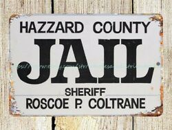 Hazzard County Jail Metal Tin Sign Man Cave Picture Bedroom Wall