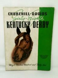 Churchill Downs 68th Kentucky Derby 1942 Program And Ticket Whirlaway Triple Crown