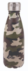 Oasis Insulated Stainless Steel Drink Bottle 350ml Twist Off Lid Camo Green