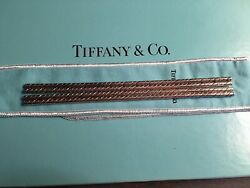 And Co. Set Of 4 Twisted Drinking Straws Sterling Silver Vintage 1972 Rare