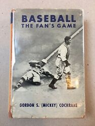 Baseball: The Fan's Game by Mickey Cochrane FIRST EDITION  SECOND PRINTING 1939