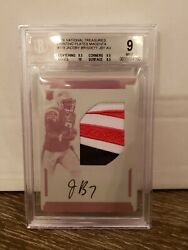 Jacoby Brissett 2016 National Treasures True Rpa 1/1 Printing Plate Patch Auto