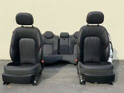 2016 Maserati Ghibli M157 Front And Rear Seats Black With Red Stitch Note