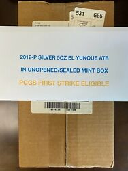 2012-p Silver 5oz El Yunque Atb Unopened Sealed Box Pcgs First Strike Eligible