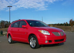 2005 Pontiac Vibe 1-OWNER 81K 1.8L 4CYL 5-SPEED MANUAL COLD A/C WAGON MINI SUV A SHARP RED ALLOYS CRUISE PWR PKG UTILITY CARGO ROOF RACK SISTER 2 TOYOTA MATRIX