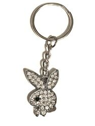Crystal PLAYBOY BUNNY Key Chain - Charm on chain GREAT GIFT  US Seller FREE SHIP