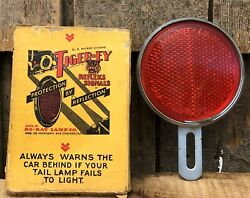 Vintage Do-ray Lamp Co Chicago Tiger-ey Refleks Signals No P-1400 With Box