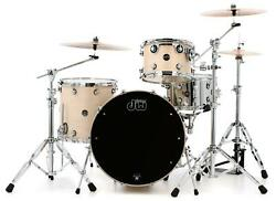 Dw Performance Series 3-piece Shell Pack With 24 Bass Drum - Natural Satin Oil