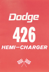 1964 Dodge With 426 Hemi Package Reproduction Ownerand039s Manual Supplement.