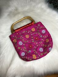 Alexia Crawford Hot Pink Floral Flower Hand Bag