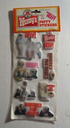 Vintage Wendy's 1984 Where's The Beef Puffy Stickers Mip 3