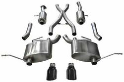 Corsa 14991blk Sport Cat-back W/ Black Tips For 2011-2021 Jeep Grand Cherokee Rt