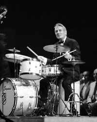 Gene Krupa Jazz Drummer Legend On Stage Playing His Drums 16x20 Canvas