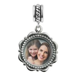 925 Sterling Silver Custom Photo Personalized Dangle Bead For Charm Bracelet