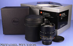 LEICA 50MM NOCTILUX-M F0.95 ASPH 11602 6BIT BLACK LENS +BOX +CASE +CAPS MINT