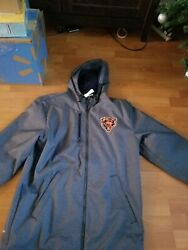 Chicago Bears Adidas Winter Parka Adult Small. Retails At 175.00.