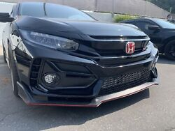Fits 16-20 Honda Civic 5dr Hb Type-r Front Bumper+lip/ctr Wing/rear Fender Flare