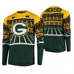 XL-Officially Licensed NFL Green Bay Packers Ugly XMAS LightUp Bluetooth Sweater